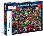 Clementoni Disney Puzzle Marvel Impossible Puzzle 1000 Pieces | Merchandise
