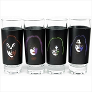 Kiss - 4 Shot Glasses