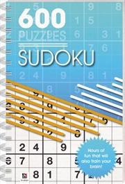 600 Puzzles Sudoku | Paperback Book