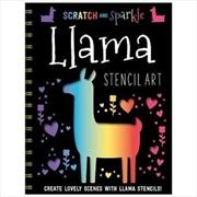 Scratch and Sparkle Llama Stencil Art | Paperback Book