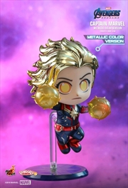 Avengers 4: Endgame - Captain Marvel Metallic Cosbaby | Merchandise