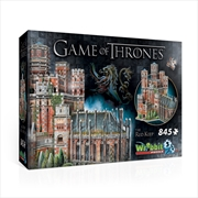 Game of Thrones - The Red Keep Puzzle 3D