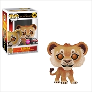 Lion King (2019) - Simba Flocked US Exclusive Pop! Vinyl [RS]