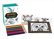 Harry Potter Magical Creatures Coloring Kit | Merchandise