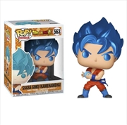 Dragon Ball Z - SSGSS Goku w/Kamehameha Metallic Pop! Vinyl [RS]