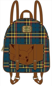 Pokemon - Pikachu Tartan Mini Backpack