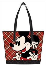 Mickey Mouse - Mickey Tartan Print Tote Bag
