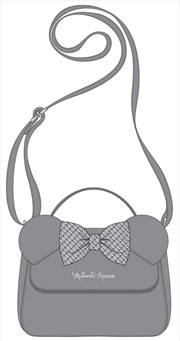 Mickey Mouse - Minnie Grey with Bow Crossbody Bag | Apparel