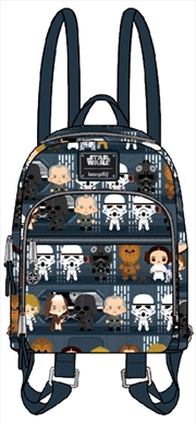 Star Wars - Death Star Chibi Print Mini Backpack