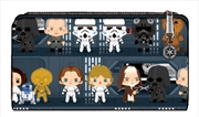 Star Wars - Death Star Chibi Print Flap Wallet | Apparel