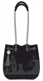 A Nightmare Before Christmas - Black Bucket Bag with Tassel