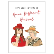 Birthday Card - Different, Unusual