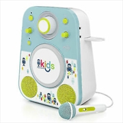 Sing-Along Bluetooth Karaoke Singing Machine - Aqua
