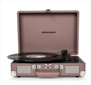CROSLEY Cruiser Deluxe Portable Turntable - Purple + Free Record Storage Crate