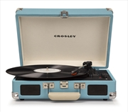 CROSLEY Cruiser Deluxe Record Player - Turqouise + Free Record Storage Crate