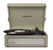 Crosley Voyager Portable Turntable W Crate - Sage