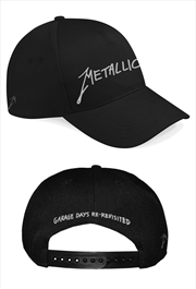 Metallica Garage Silver Logo: Snapback Hat | Apparel