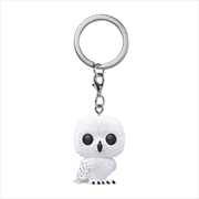 Harry Potter - Hedwig Flocked Pocket Pop! Keychain
