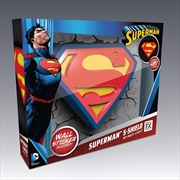 Superman Logo 3D Light