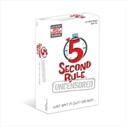 5 Second Rule Uncensored | Merchandise