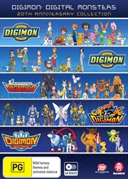 Digimon - Digital Monsters - Season 1-5 - 20th Anniversary Collection | DVD