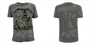 Metallica - Justice Neon All Over: Tshirt: XL   Apparel
