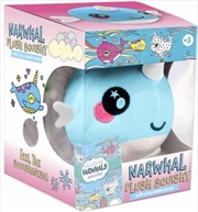 Plush Squishy and Book Kit: Narwhal | Paperback Book