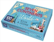 Seven Continents of the World Book and Floor Puzzle