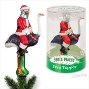 Santa Pigeon Tree Topper - Archie McPhee
