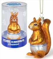 Squirrel In Underpants Ornament - Archie McPhee | Homewares