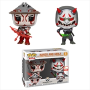 Overwatch Hanzo & Genji Pop! Vinyl 2019 E3 Exclusive - 2 Pack | Pop Vinyl