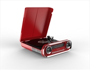 Red Retro Turntable Vinyl Player