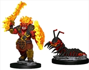Wardlings - Fire Orc & Fire Centipede Pre-Painted Mini
