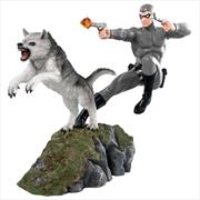 The Phantom - Phantom and Devil Grey Suit Statue | Merchandise