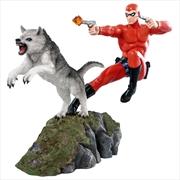 The Phantom - Phantom and Devil Red Suit Statue | Merchandise
