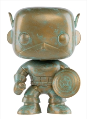 Captain America - Marvel 80th Anniversary Patina US Exclusive Pop! Vinyl [RS] | Pop Vinyl