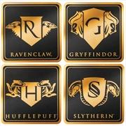 Harry Potter - House Crest Gold Foil Coasters (Set of 4)