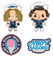 Stranger Things - Scoops Ahoy Enamel Pin 4-pack
