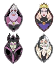Disney - Villains Enamel Pin 4-pack