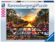 Ravensburger - Bicycles in Amsterdam Puzzle 1000 Pieces | Merchandise
