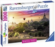 Ravensburger - Hot Air Balloons over Myanmar Puzzle 1000 Pieces