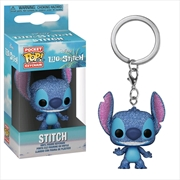 Lilo & Stitch - Stitch Diamond Glitter US Exclusive Pocket Pop! Keychain [RS]