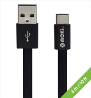 Moki Type C USB Sync Charge Cable (3m) | Accessories
