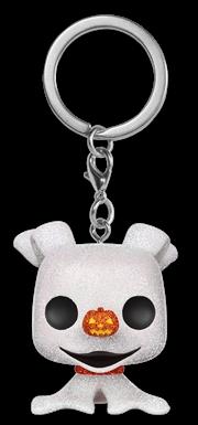 The Nightmare Before Christmas - Zero Diamond Glitter Pocket Pop! Keychain
