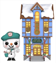 Peppermint Lane - Frosty with Light Up Post Office US Exclusive Pop! Town [RS] | Pop Vinyl