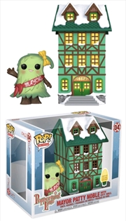 Peppermint Lane - Patty Noble with Light Up Town Hall Pop! Town | Pop Vinyl