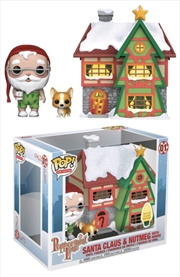 Peppermint Lane - Santa, Nutmeg & Light Up Santa's House Pop! Town | Pop Vinyl