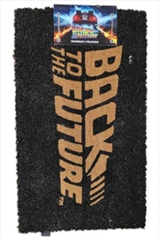 Back To The Future Logo Doormat