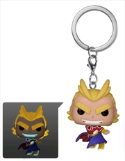 My Hero Academia - All Might Silver Age Glow Pocket Pop! Keychain [RS] | Pop Vinyl