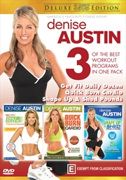 Denise Austin - Get Fit Daily Dozen / Shape Up & Shed Pounds / Quick Burn Cardio - Deluxe Edition | DVD